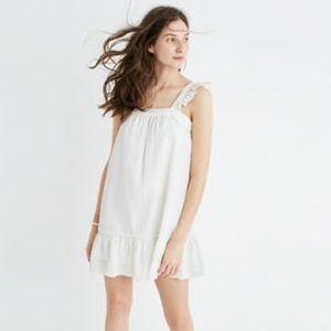 Madewell Metallic Stripe Ruffle Dress Size S